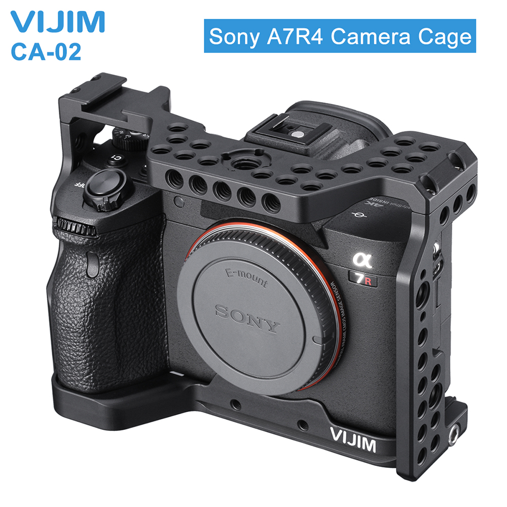 Cage de caméra en alliage d'aluminium pour Sony A7R4 Sony A7R iv avec support de chaussure froide trou de positionnement Arri 1/4 3/8 filetage