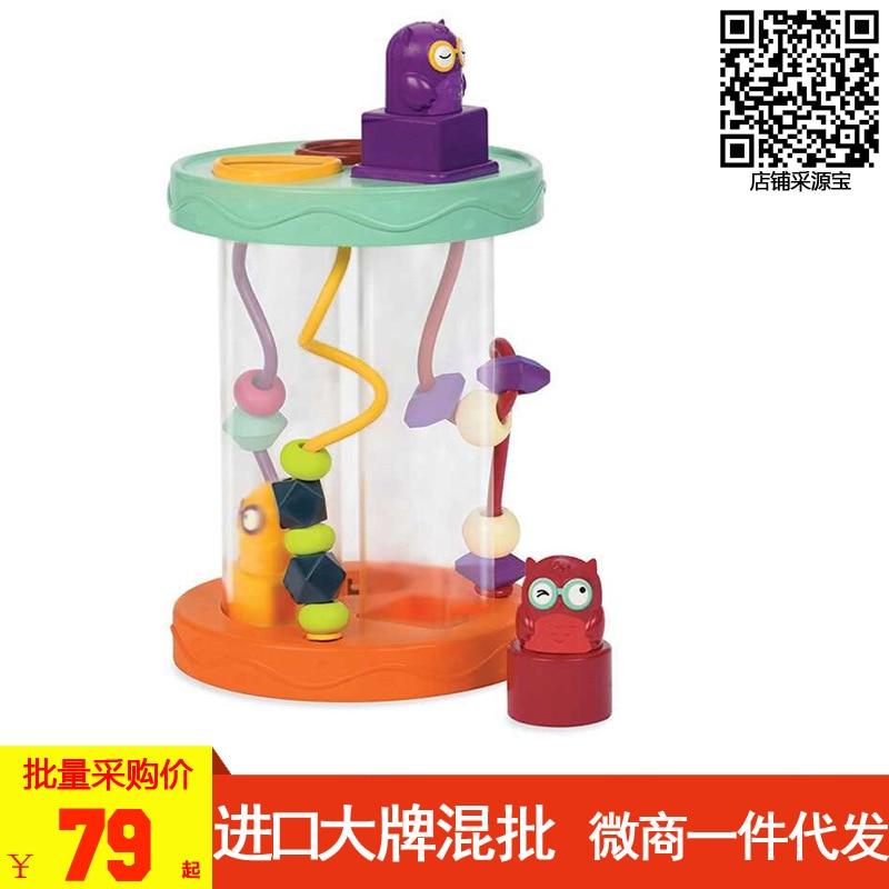 Америка B. Toys hu CAW Сова Детская форма совпадающая Когнитивная форма звук делая машину ребенка ползая игрушка