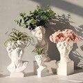 Resin Vase Home Decoration Makeup Brush Storage Box Pen Holder European Style Decoration Head Sculpture Model Wedding