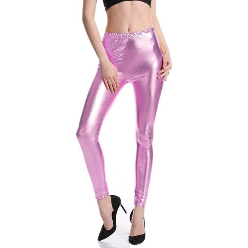 Новинка,, женские леггинсы с цифровой печатью в виде рыбьей чешуи,, большие размеры S M L XL XXL XXXL, 21 цвет - Цвет: K030 Pure pink