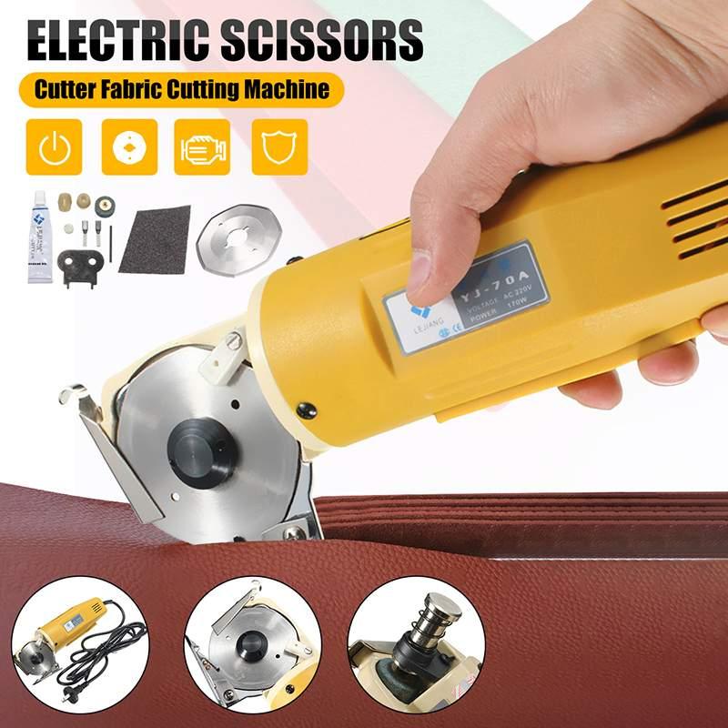 Professional 170W 70mm Electric Cloth Knife Fabric Cutting Tool Leather Cloth Electric Cutter Machine Kit Cutting Saws 110V/220V