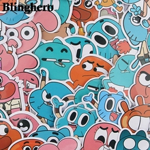 39 Pcs/set Funny Anime The Amazing World of Gumball Sticker For Car luggage Laptop Motorcycle Phone Sticker Kids Toy Stickers 2000 pcs classic style children stickers funny fashion anime sticker toys vinyl waterproof decal toy luggage laptop sticker