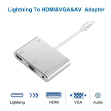 Converter For Lightning to HDMI VGA Jack Audio TV Adapter Cable For iPhone X iPhone 8 7 7 Plus 6 6S For iPad Series