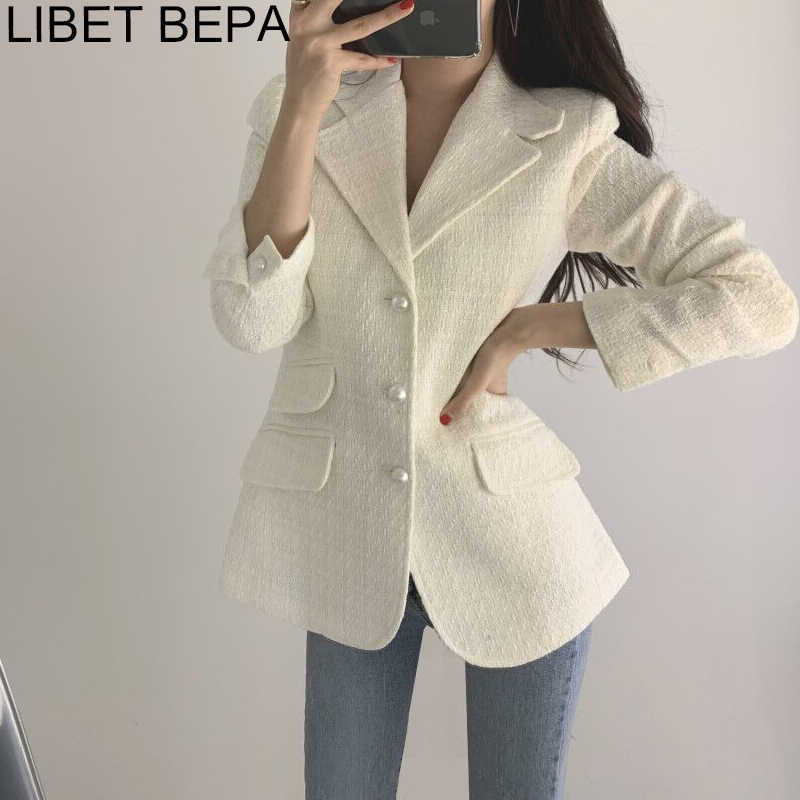 2019 Autumn Winter Fashion Blazers Jacket Women Suit Long Sleeve Plaid Elegant Single-breasted Outerwear Female Ladies BA151