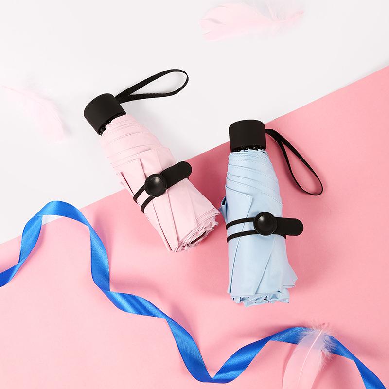 New Style Half off 8 Bone Mini Parasol Vinyl UV-Protection Rain Or Shine Dual Purpose kou dai san Umbrella Customizable Logo