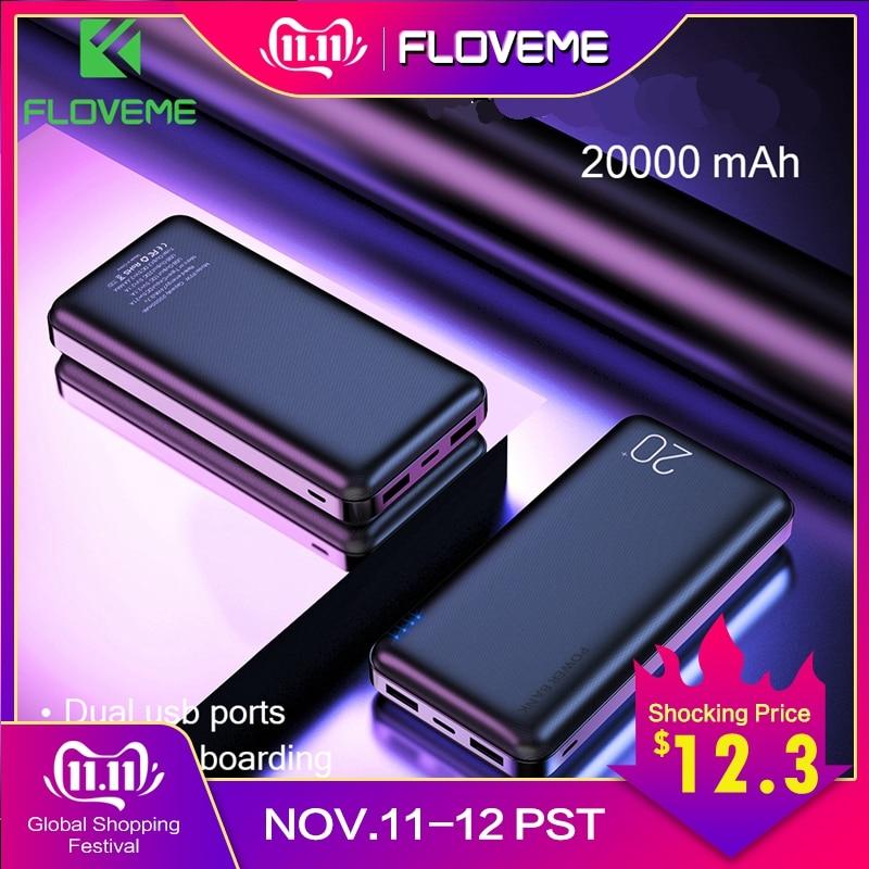 FLOVEME Power Bank 20000 mAh Tragbare Lade Poverbank Handy Externe Batterie Ladegerät Power 20000 mAh für Xiao mi mi