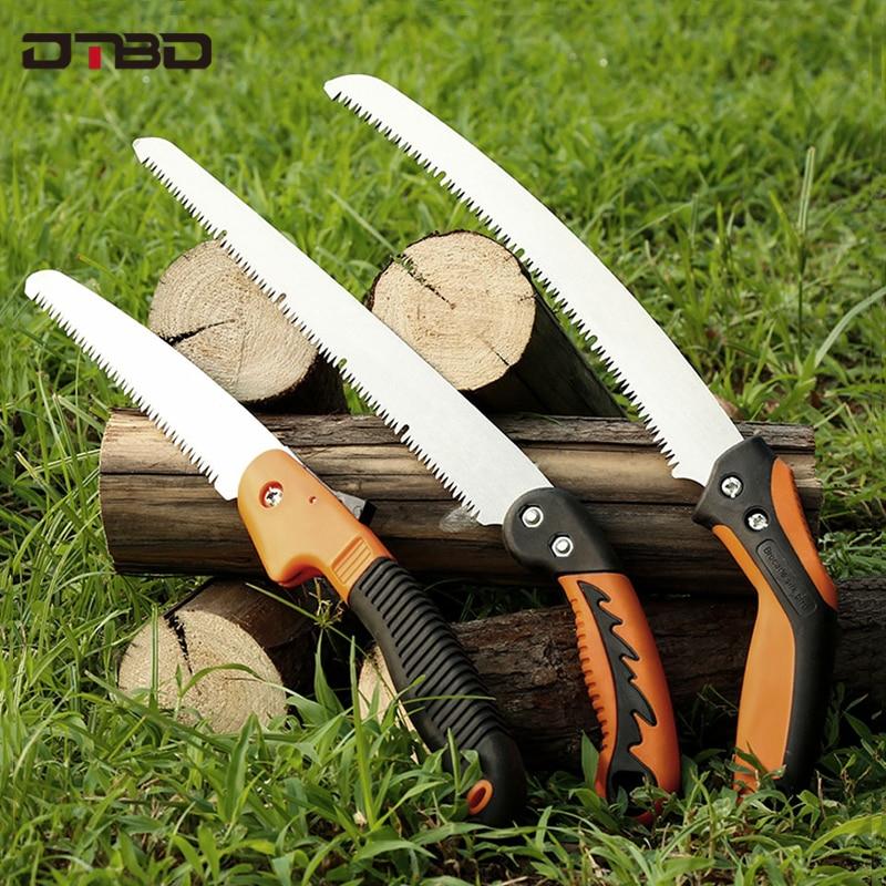 Portable Home Manual Pruning Hacksaws Garden Folding Trimming Saw Pruning Garden Household Anti-skip Hand Steel Sawing Tool