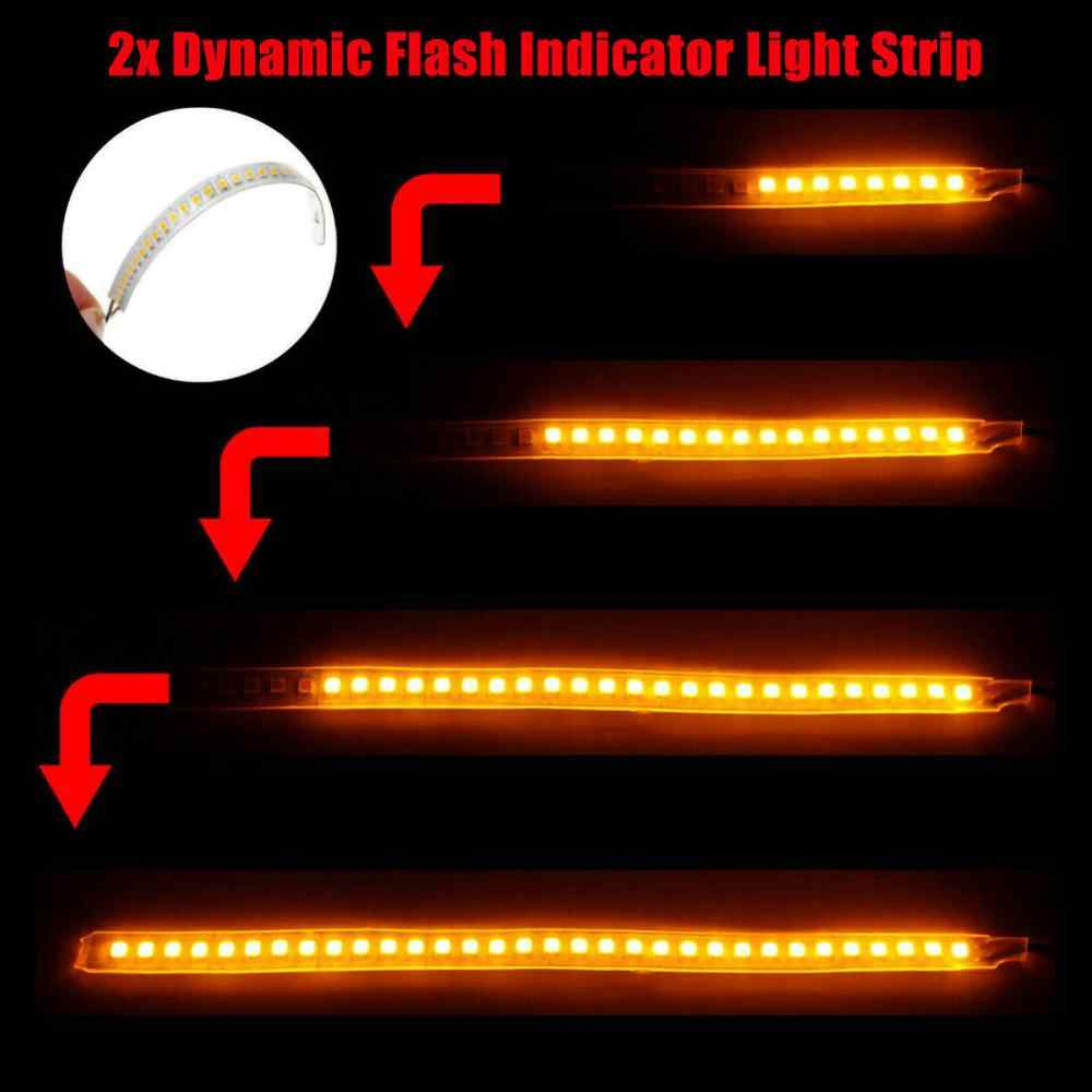 Clignotants, bande de signalisation, miroir latéral, indicateur ambre, 2 pièces, séquentiel, Led, dynamique, LED cm