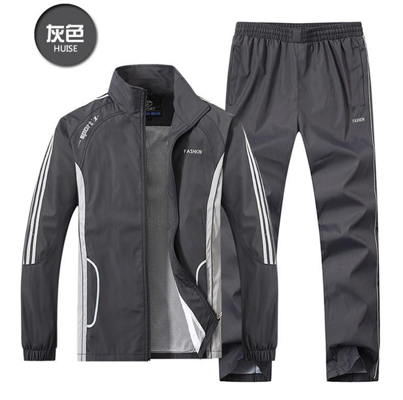 Years New Style Hoodie Men Leisure Set Middle-aged Thin Type For Spring And Autumn Two-Piece Set Fitness Outdoor Sports Clothing
