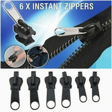 6 Pçs/set Fix Zipper Kit de Reparação Substituição Zip Instantânea Universal Slider Teeth Resgate Novo Design Para A Roupa De Costura