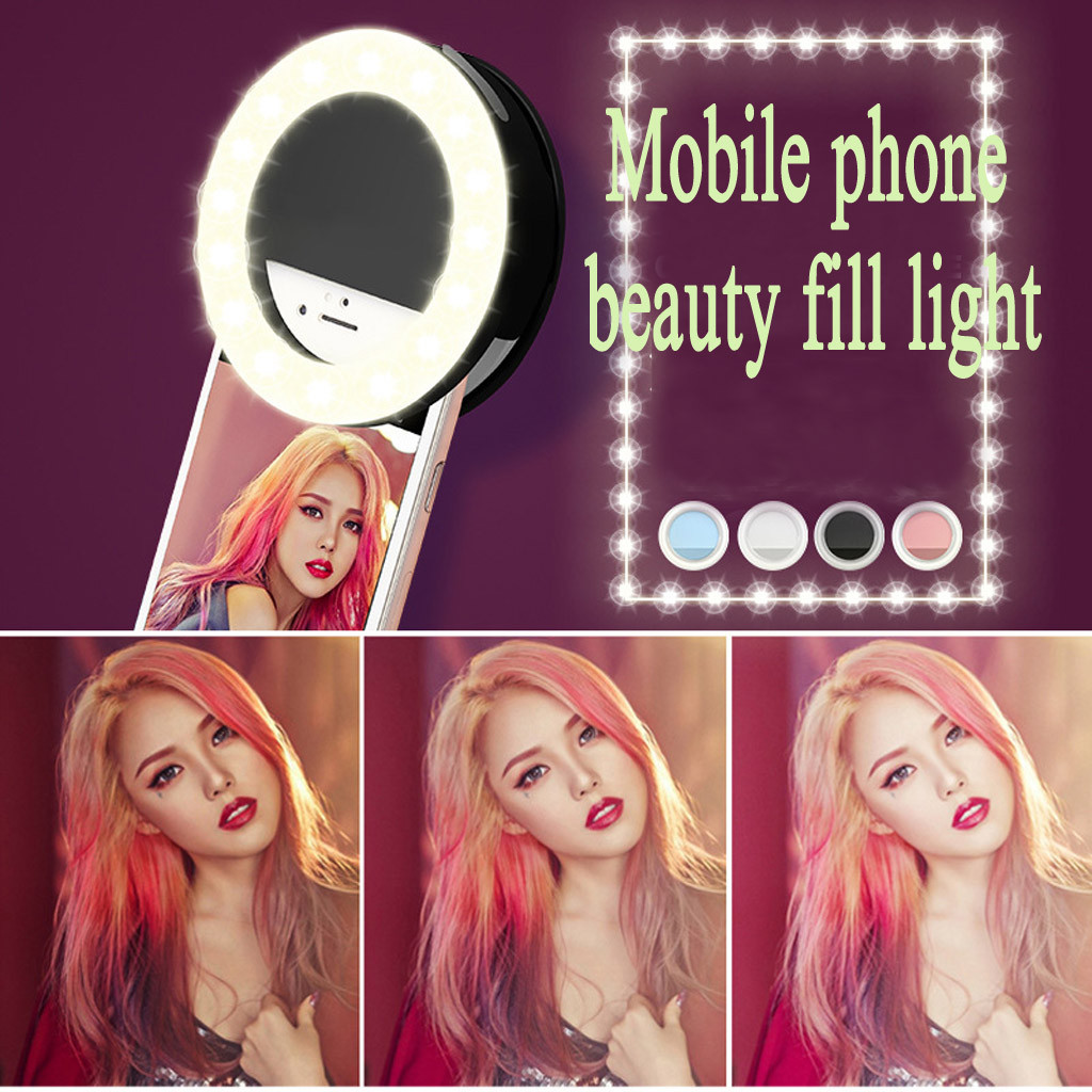 Online Live Selfie Shot Rechargeable Cosmetic Clip Mini Fill-in Light for phone Supplementary Lighting Selfie Enhancing Flashes