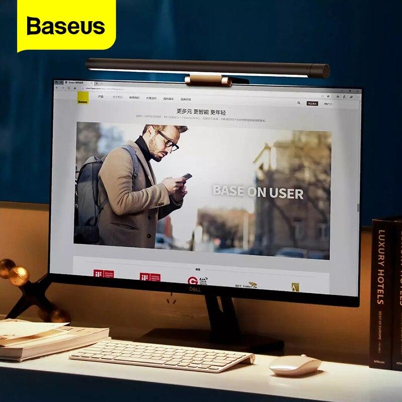 Baseus Computer Screen Lamp PC Laptop Screen Monitor Hanging LED Light Bar Table Lamp Office Study Reading Desk USB Night Light