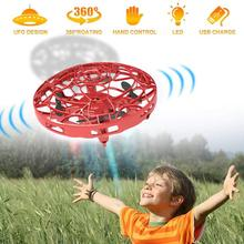 UFO Mini Quadcopter Drone UFO Drone Anti-collision Infrared Sensor Aircraft High Quality Remote Control Electric Electronic Toy
