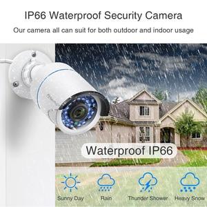 Image 4 - Techage h.265 hd 1080p 2.0mp áudio cctv poe câmera ip ao ar livre à prova dwaterproof água ir corte bala p2p onvif vigilância de segurança vídeo