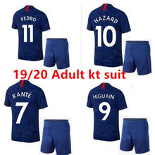2019 HAZARD KANTE 19 20 Chelsea football home Away soccer jerseys Adult kit suit HIGUAIN PULISIC New Chelsea jersey shirt kit(China)