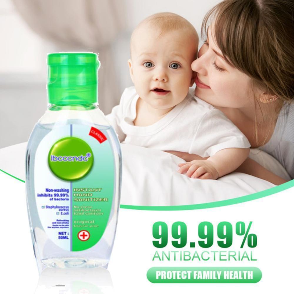 50ml No Water Hand Sanitizer Gel 99.99% Anti-bacteria Hand Sanitiser Safty Travel Antibacterial Hand Gel Keep Hands Clean