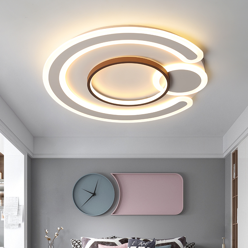 New style living room led ceiling light simple modern acrylic round study ceiling light dimmable bedroom ceiling light
