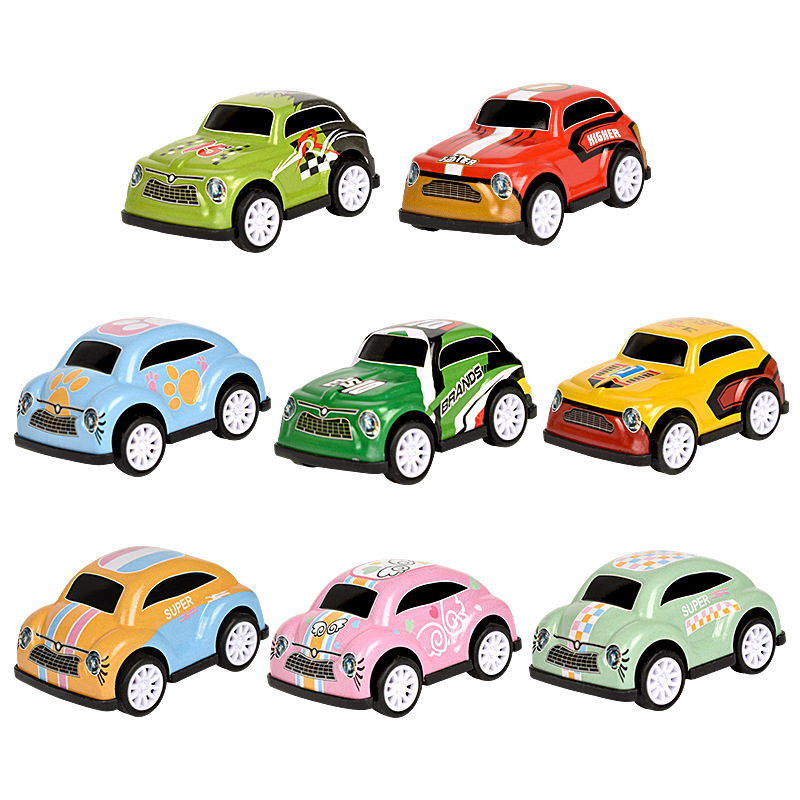 Mini Racing Vehicle Mini Pull Back Alloy Car Model Kids Children Xmas Toy DS
