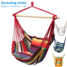 Portable Hammock Chair Seat Bed Hanging Garden Swing Bedroom Canvas Indoor Camping Lazy-Rope