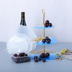 1PC DIY Three-layer Fruit Tray Tea Tray Silicone Resin Mold  Mold for UV Resin Mold Epoxy Resin Art Supplies Resin Mold DIY