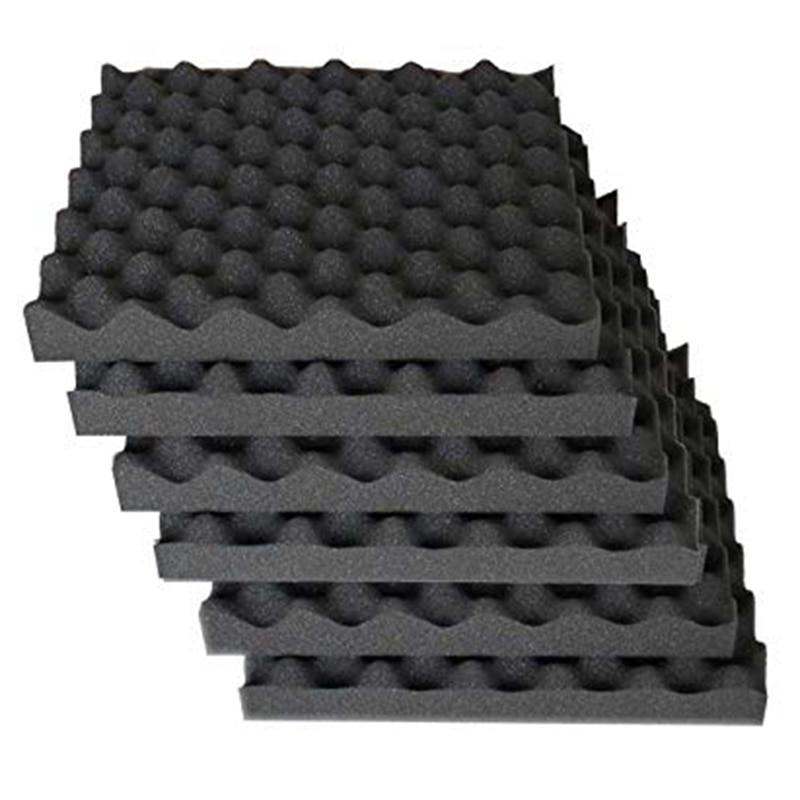 6 Pcs Soundproofing Foam Studio Acoustic Foam Soundproof Absorption Black Wedge Polyurethane Foam 30 X 30 X 3cm