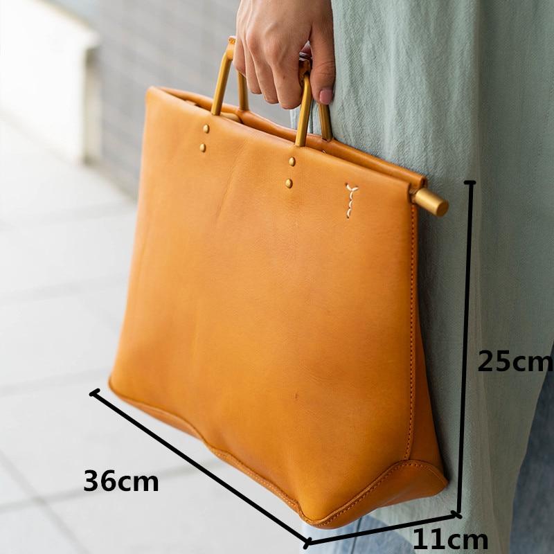 Nuevo bolso retro de cuero para mujer, bolso de hombro para mujer, bolso bandolera de cuero genuino para mujer - 6