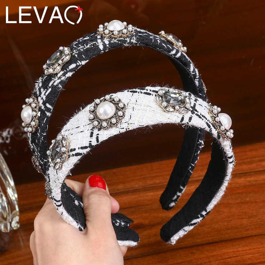 Fashion Women Knotted Head Hoop Shining Pearls Rhinestone Hair Hoop Headband 1PC