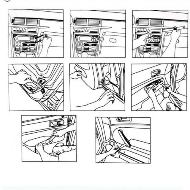 4 шт., автомагнитола с креплением на дверцу, для Fiat Punto 500 Stilo, Abarth Ducato Palio Bravo, аксессуары для стайлинга автомобиля