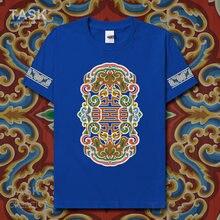 Estilo nacional característico camiseta minorias étnicas chinesas mongóis nacionalidade manga curta roupas de algodão casual topos 01