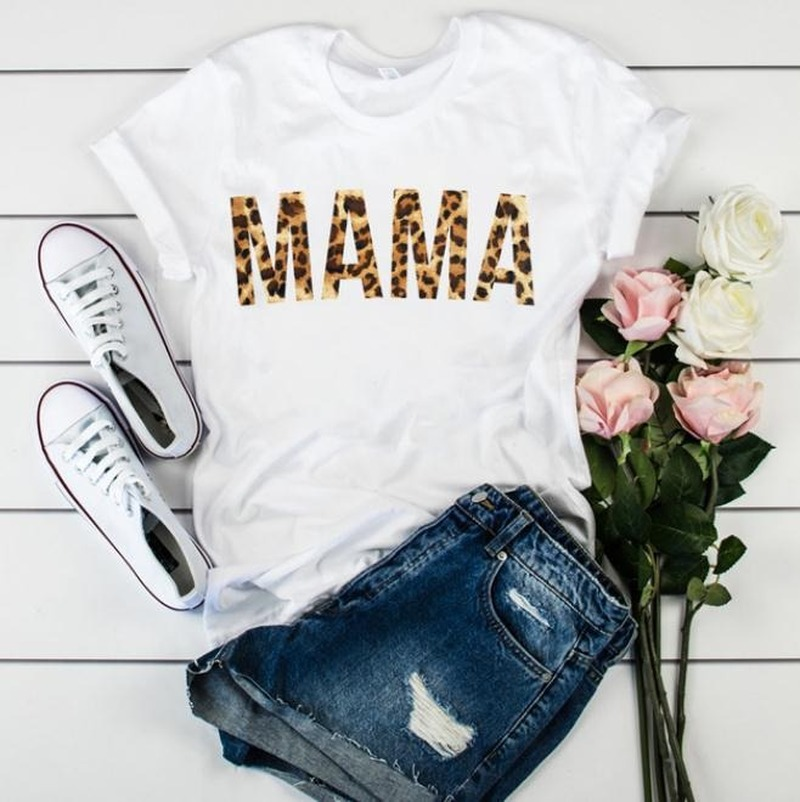 Wife Mom Boss Mama Letter Print T Shirt Women Short Sleeve O Neck Loose Tshirt 2020 Summer Women Tee Shirt Tops Camisetas Mujer