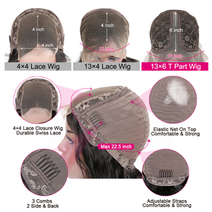 Image 2 - 1x6 T Part & 13x4 Lace Front Wigs 10 26inch Pre Plucked Peruvian Lace Front Human Hair Wigs With Baby Hair Remy Lace Wig 120%