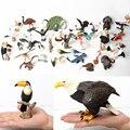Искусственная лысая орла, сова, пеликан, попугай, лебедь, птицы, ручная роспись, модель игрушки, фигурка для детей, коллекция, искусственная