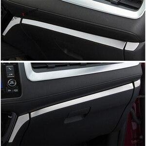 Image 1 - Interior Em Aço Inoxidável Para Honda HR V Yimaautotrims/Vezel 2014   2020 Instrumento Painel painel Esfregar Tira de Cobertura Guarnição
