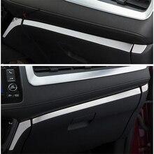 Yimaautotrims wnętrze ze stali nierdzewnej dla Honda HR V / Vezel 2014   2020 deska rozdzielcza Instrument Panel tarcie taśmy pokrywa wykończenia