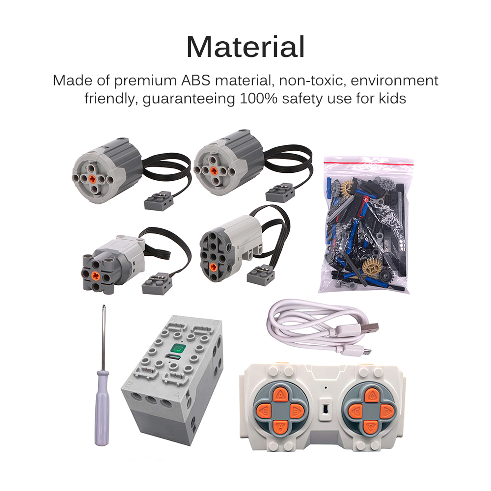 Bugatti Retrofit Kit Include Motors RC Four-Channel Lithium Battery Building Blocks Package RC Via Mobile Phone Bluetooth APP