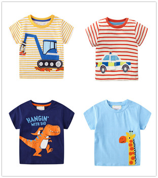VIDMID 2-7Years Children baby boys Kids Boys T-Shirt Cotton Cartoon animals Baby Boys Short Sleeve t-Shirts Summer clothing W02 1