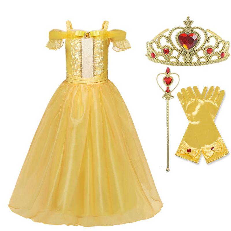 Girls Princess Costume For Kids Halloween Party Cosplay Dress Up Children Disguise Fille 3