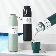 Büyük Termos şişe spor Termos 304 paslanmaz çelik bardak 500ml yalıtımlı fincan seyahat Termos kahve şişesi su şişeleri