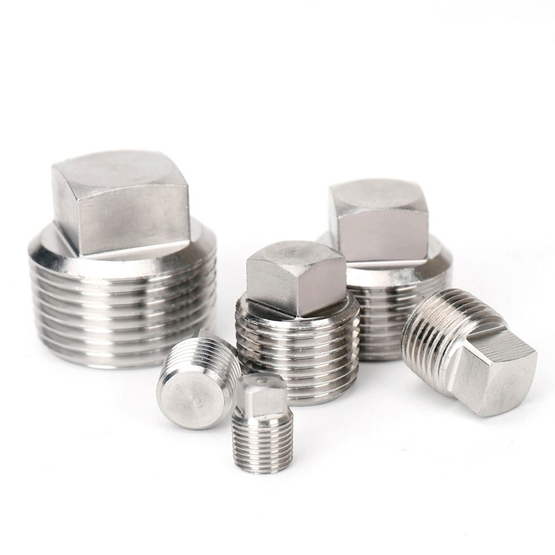 Stainless 304 Pipe Fitting Square Plug 1/8