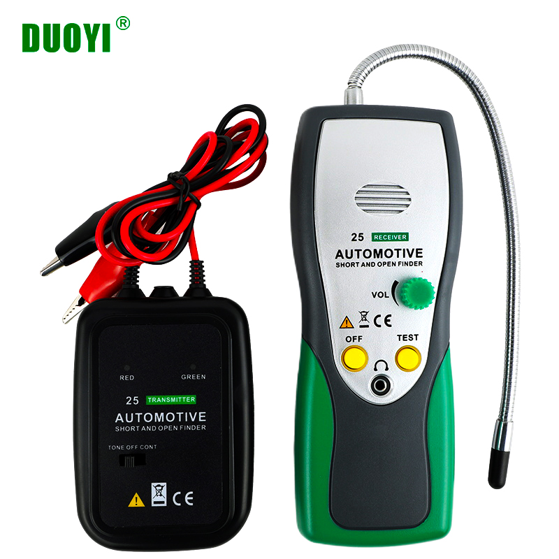DUOYI DY25 Automotive Short&Open Circuit Finder Tester Cable Tracker Repair Tool Tester Car Tracer Diagnose Tone Line Finder