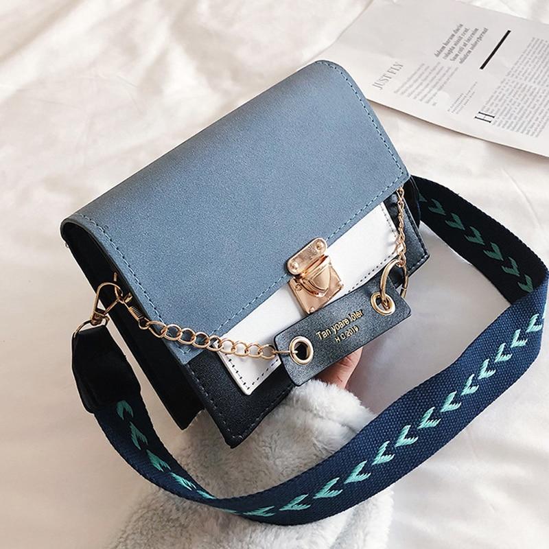 Women's Shoulder Bags Pu Leather Designer Luxury Messenger Bags Metal Buckle Crossbody Bags Purse 2020 Female Travel Handbags