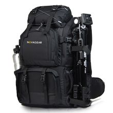 NOVAGEAR 80302 double-shoulder camera bag waterproof shockproof outdoor large capacity SLR camera bag put 17-inch laptop(China)
