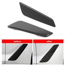 Aberturas para-choque do carro decorativo capa guarnição estilo de fibra de carbono apto para bmw série 5 g30 2017-2018 acessórios do carro interior