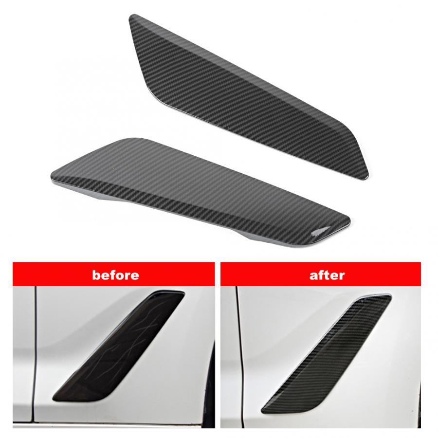 Fender do carro aberturas decorativa capa guarnição estilo de fibra de carbono apto para 5 séries g30 2017-2018 acessórios do carro interior