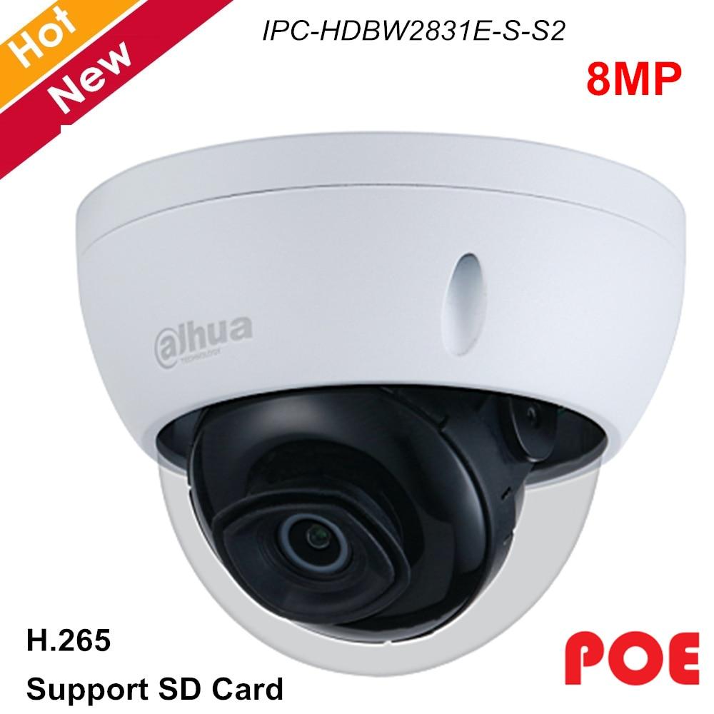 Dahua IPC-HDBW2831E-S-S2 8MP 4K Night Camera IR 30M Dome H.265 POE IP Camera CCTV Security Camera