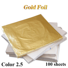 Composition Gold Leaf Sheets 100 Leaves - 14 x cm For Gilding Art Work