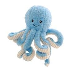 Muñeca de juguete de felpa de 18cm adorable simulación pulpo de peluche muñecas de peluche de juguete suave Animal lindo muñeca juguetes para niños regalos