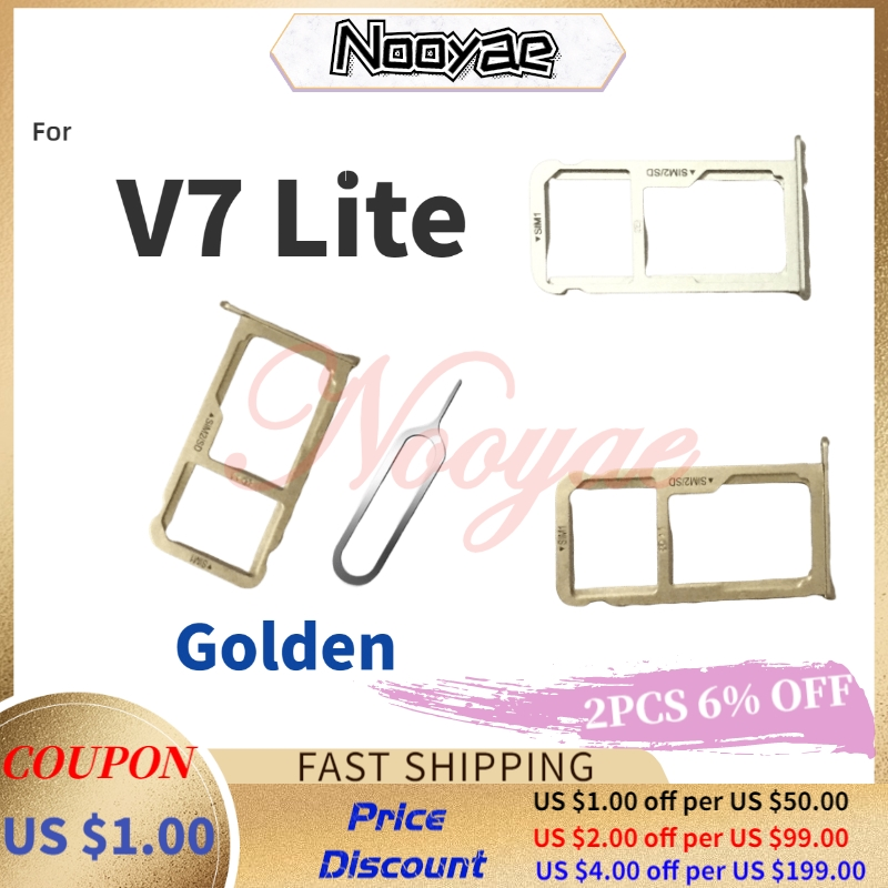 New Sim Card Slot Tray Holder For ZTE Blade V7 Lite 5.0inch Sim Socket Adapter Replacement Parts + Tracking
