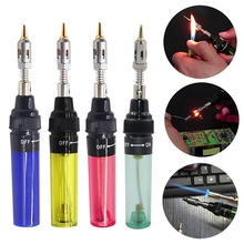 1300 Celsius Butane Gas Welding Soldering Irons Welding Pen Burner Blow Torch Gas Soldering Iron Cordless Butane Tip Tool 1300 degree gas blow torch soldering solder iron cordless butane tip tool welding pen burner 8ml welding soldering kit