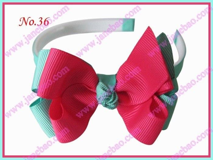 """3,5 шт, модная повязка на голову для девочек 3-"""", двухцветная двойная заколка для волос с бантом"""